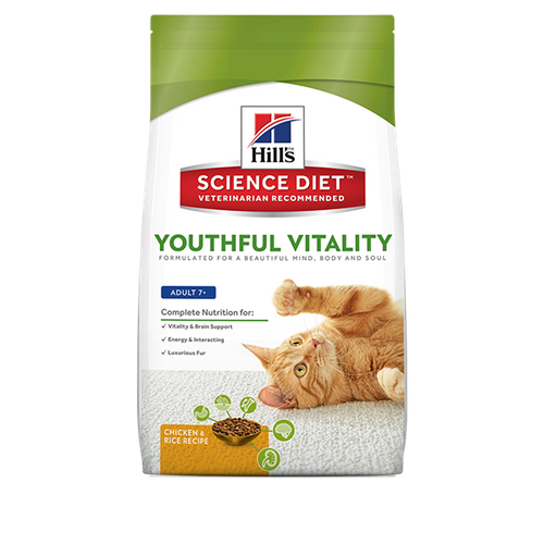 Hill's Science Diet Youthful Vitality Adult 7+ Chicken & Rice Recipe Cat Food