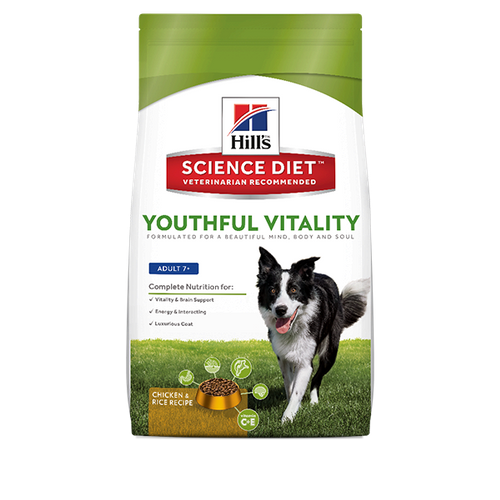 Hill's Science Diet™ Youthful Vitality Adult 7+ Chicken & Rice Recipe Dog Foo